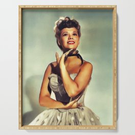 Dinah Shore, Actress and Singer Serving Tray