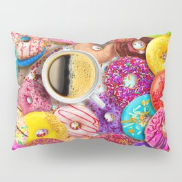 Donuts & Coffee Pillow Sham
