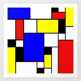 Colored Squares Art Art Print