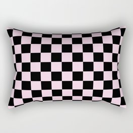 Light Pink and Black Check - more colors Rectangular Pillow