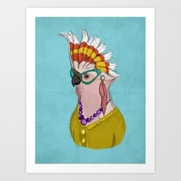 Sophisticated Bird Print Art Print
