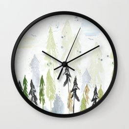 Into the woods woodland scene Wall Clock
