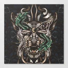 Moth and tiger Canvas Print