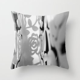 Shadow Roses Throw Pillow