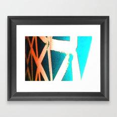 Orange/Blue Framed Art Print