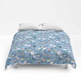 Birds & Blooms (Blue) Comforters