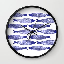 Blå Sild Wall Clock