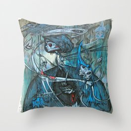 exiled archangels Throw Pillow