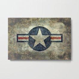 USAF vintage retro style roundel Metal Print