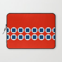 Retro Beaded Bracelet Pop Art - Red White Blue Laptop Sleeve