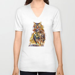 Mixed Up Maine Coon Unisex V-Neck