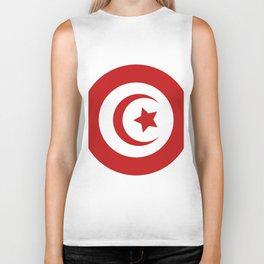 Tunisia flag Biker Tank