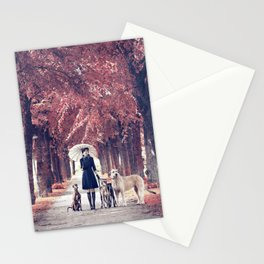 AUTUMN DOGS Stationery Cards