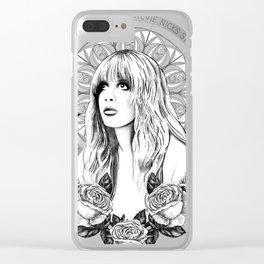 Stevie Nicks Angel Of Dreams Clear iPhone Case