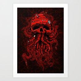 kraken skull Art Print