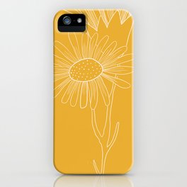 Floral Study In Yellow iPhone Case
