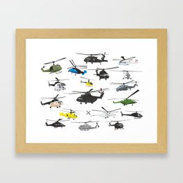 Multiple Helicopters Framed Art Print