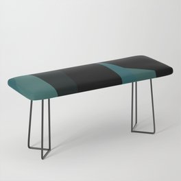 teal and black abstract Bench