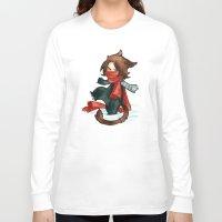 bucky Long Sleeve T-shirts featuring winter - bucky by noCek