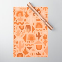 Orange Cutout Print Wrapping Paper
