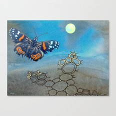 Last Flight of the Red Admiral Butterfly Canvas Print
