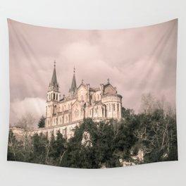 Basilica of Santa Maria la Real of Covadonga (retro) Wall Tapestry