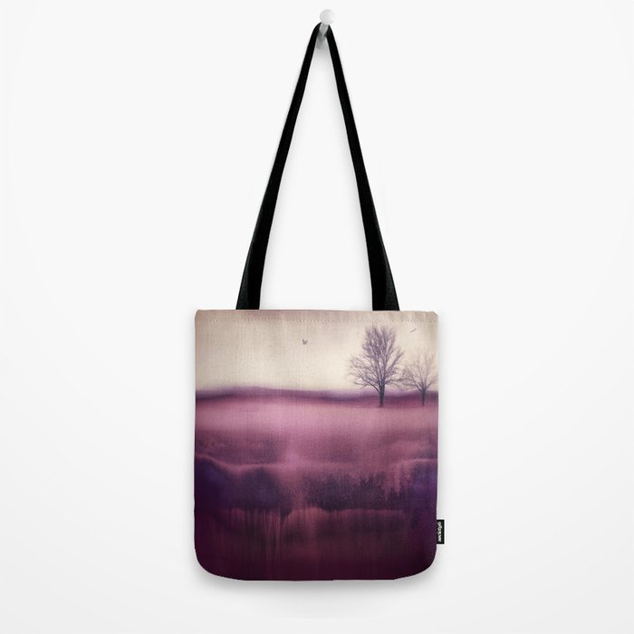 Winter Plum Tote Bag
