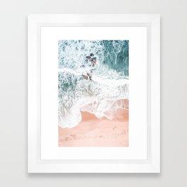 Sands of Coral Haze Framed Art Print