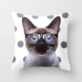 Geometry Class Kitty Throw Pillow