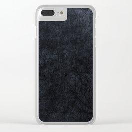 Grey Velvet texture Clear iPhone Case