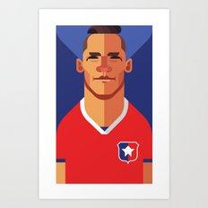 AS7 | La Roja Art Print