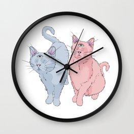 blind cats Wall Clock