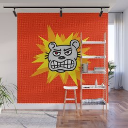 Angry bear Wall Mural