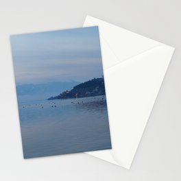 Lake Ohrid Blue hour Stationery Cards