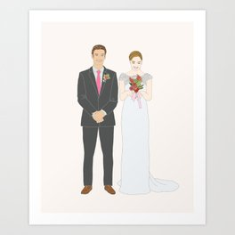 This $75 Custom Portrait Is the Most Thoughtful Wedding Gift Ever Art Print