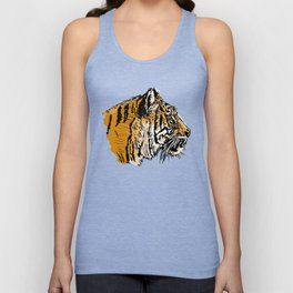 Tiger Drawing Unisex Tank Top