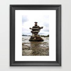 Rock Sculpture Framed Art Print