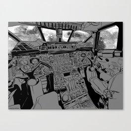 SpaceJet (B/W) Canvas Print