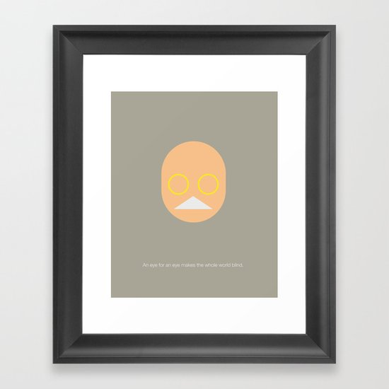FC - Gandhi Framed Art Print