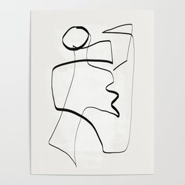 Abstract line art 6 Poster
