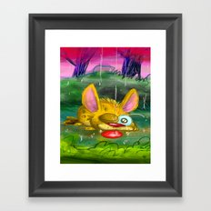 Come in from the rain Framed Art Print