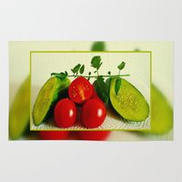 vegetables Area & Throw Rugs featuring Juicy Vegetables by Art-Motiva