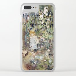 Berthe Morisot - A Child In The Rose beds Clear iPhone Case
