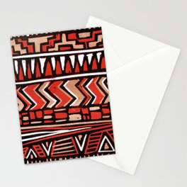 Aztec lino print Stationery Cards