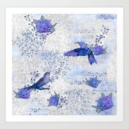 Chinoiserie blue Art Print