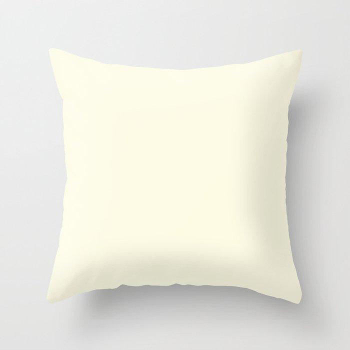 Vanilla Cream White Color Throw Pillow