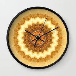 Mandala gold of the incas Wall Clock