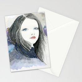 Embracing A Misty Morning Stationery Cards