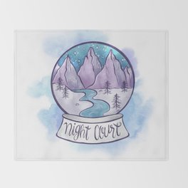 NIGHT COURT SNOW GLOBE Throw Blanket