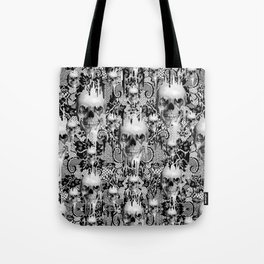 Victorian gothic lace skull pattern Tote Bag